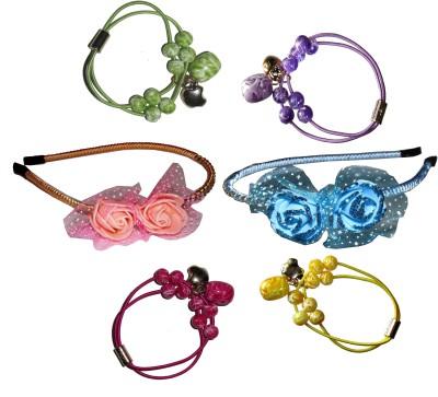 Sanskruti Multi Color Floral Hair Accessory Set(Multicolor)