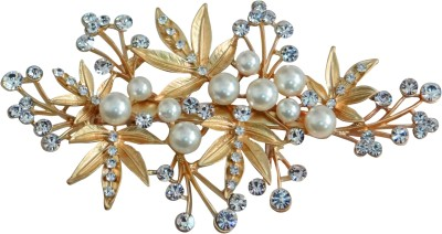 Vogue Latest Collection Wedding Party Fancy Hair Clip(Gold)