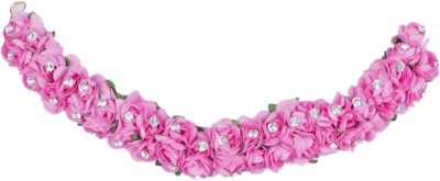 Majik Gajra Veni Garland Artificial Flowers Hair Band(Pink)
