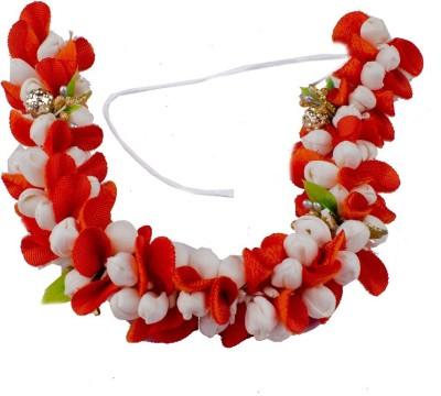 Majik 1.Velvet Based Gajra / Veni Used For Buns And Braids Hair Band(Multicolor)