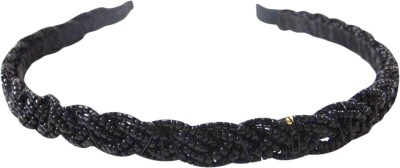 Vogue Limited Edition Braid Beaded Fancy Party Hair Band(Black)