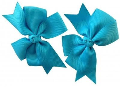 NeedyBee Bow ( Pack of 2) Hair Clip(Blue) Flipkart
