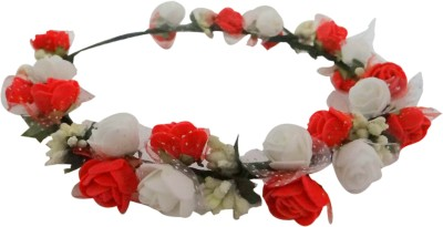 Vogue Limited Eddition Wedding Party 2-Line Rose Flower Tiara Head Band(Multicolor)