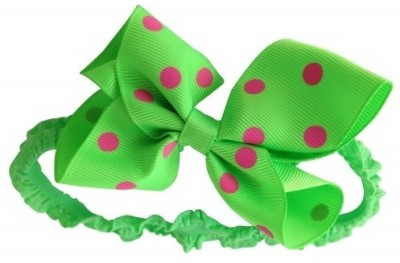 NeedyBee Soft Lace Head Band(Green, Red)