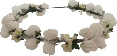 Vogue Limited Eddition Wedding Party 2-Line Rose Flower Tiara Head Band(White)