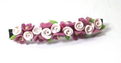 Advance Hotline Porcelain clay work fancy banana clip Banana Clip(Multicolor)