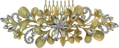 Vogue Limited Edition Exclusive Wedding Party Fancy Comb Hair Clip(Gold)
