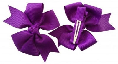 NeedyBee Bow ( Pack of 2) Hair Clip(Purple) Flipkart