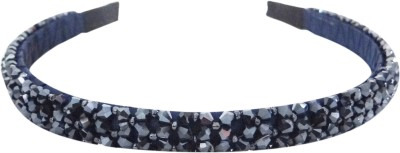 Vogue Limited Edition Crystal Beaded Fancy Party Hair Band(Blue)