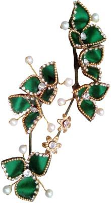 ODDEVEN Beautiful & Fancy hair Flower Accessories Brooch Hair Accessory Set(Green)