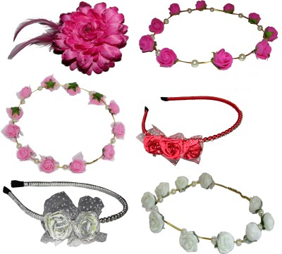 Paperiva Floral Style Tiara Hair Accessory Set(Multicolor)