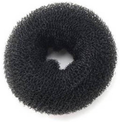 GalexiaR Magic Hair Style Donut Maker Nylon Wire Stretchable Ring Size-S 6cm For Bun(Black)  available at flipkart for Rs.109