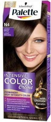 Schwarzkopf PALETTE INTENSIVE CREAM WITH LIQUID KERATIN - 5-0 Hair Color(Light Brown)