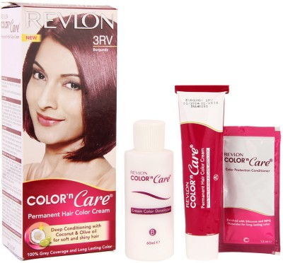 Revlon Color 'N Care Permanent Hair Color Cream Hair Color(3RV Burgundy)  available at flipkart for Rs.200