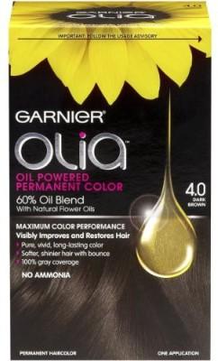 Garnier Olia Oil Powered Permanent Hair color Hair Color(4.0 Dark Brown)