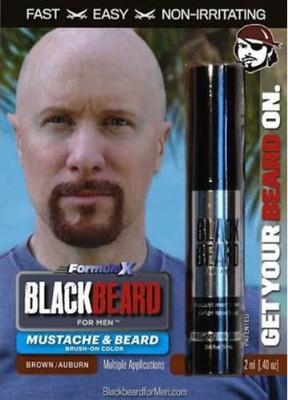 BLACKBEARD BrownAuburn Beard Dye Hair Color(Brown)