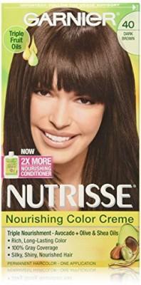 Garnier Nutrisse Haircolor Hair Color(40 Dark Brown Dark Chocolate)