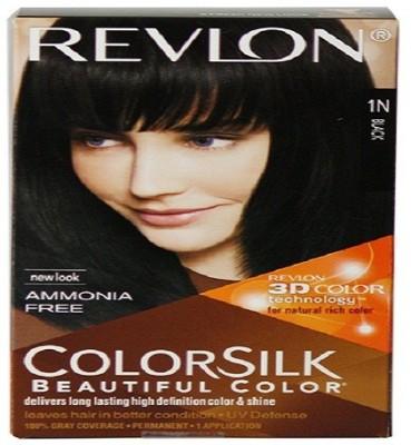 Revlon Colorsilk With 3D Technology (1N Black) Hair Color(Black)