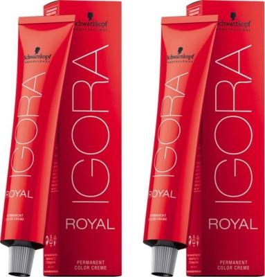 Schwarzkopf Igora Royal Cream Pack of 2 Hair Color(Black 1-0)