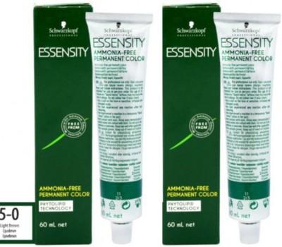 Schwarzkopf Essensity Ammonia Free Permanent Pack of 2 Hair Color(5-0 Light Brown)
