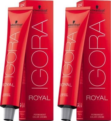 Schwarzkopf Igora Royal Cream Pack of 2 Hair Color(Light Brown Chocolate 5-6)