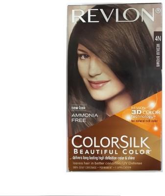 Revlon Colorsilk Hair Color With 3D Color Technology 4N (Medium Brown)