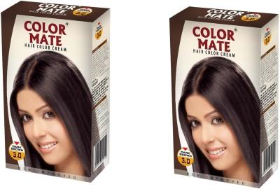 Color Mate Cream Hair Color(Dark Brown)