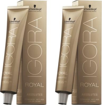 Schwarzkopf Igora Royal Cream Absolute Brown Pack of 2 Hair Color(Dark Blonde Natural Auburn 6-06)