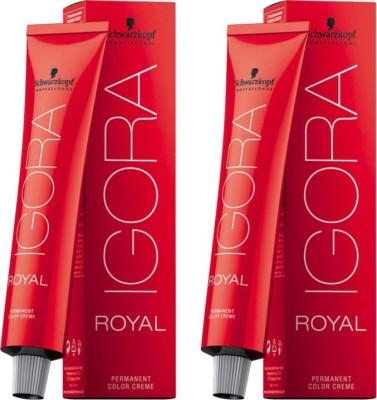 Schwarzkopf Igora Royal Cream Pack of 2 Hair Color(Medium Brown 4-0)