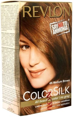 Revlon Colorsilk Hair Color, Medium Brown 4N