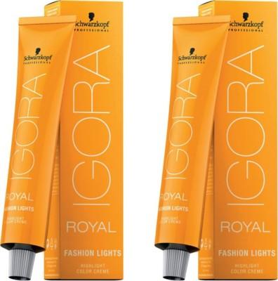 Schwarzkopf Igora Royal Cream Fashion Lights Pack of 2 Hair Color(Beige L-44)