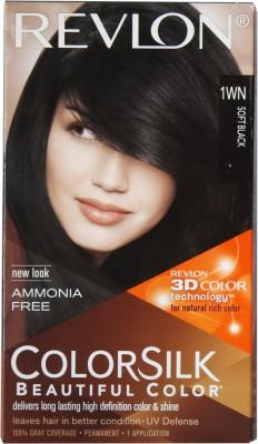Revlon Colorsilk With 3D Technology Hair Color(Soft Black 1WN)