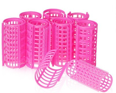 One Personal Care Self Holding Efficient Professional Salon Range Curl Formers Hair Curler(Pink)  available at flipkart for Rs.135