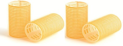 Pankh Plastic Rollers Hair Curler(Yellow)