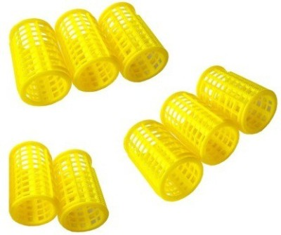 One Personal Care Salon Series Professional Range Rollers Hair Curler(Yellow)  available at flipkart for Rs.135