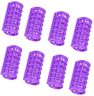 Pankh Plastic Rollers Hair Curler(Purple)