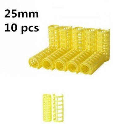 Edee Large Self Holding Rollers Pack of 10 Hair Curler Yellow