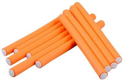 Beauty of Life 10 Curl Maker Soft Foam Bendy Styling Roller Orange Hair Curler(Orange) at flipkart