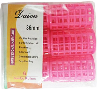 Daiou Jumbo Rollers Hair Curler(Pink)  available at flipkart for Rs.119