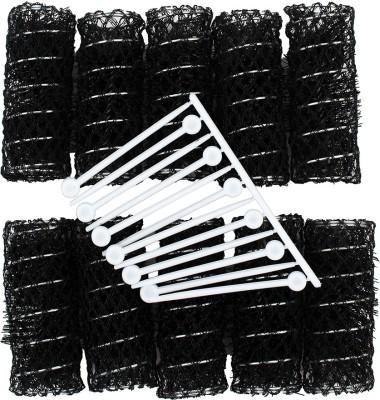 Daiou Pack of 10 Hair Curler(Black)  available at flipkart for Rs.99