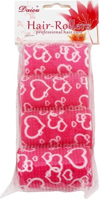 Daiou Pink Hair Rollers Pack of 4 Hair Curler(Pink)  available at flipkart for Rs.99