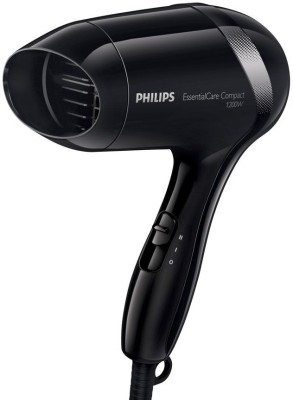 Philips Compact Essential Care 1200 Watts BHD 001 Hair Dryer(Black)