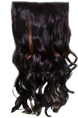 f82a76c76c1 WigOWig Long Wavy Beautiful Natural Brown with golden brown highlight  Extension for Ladies (Washable &