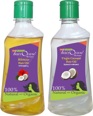 Hairocare Hibiscus (200 ml) + Virgin Coconut (200 ml) - Conditioner & Natural Moisturizer - Hair Oil(400 ml)  available at flipkart for Rs.220