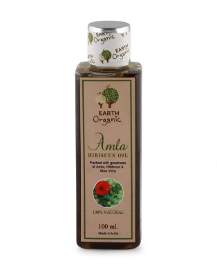 Earth Organic Hibiscus Amla Oil 100ml Hair Oil(100 ml)  available at flipkart for Rs.310