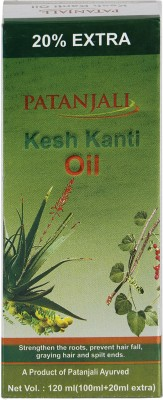 Patanjali Divya Kesh Kanti Hair Oil (120ML, Pack of 3)