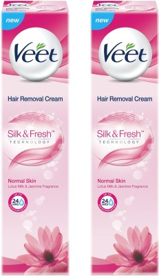 Veet Silk and Fresh Normal Hair Removal Cream 100g Pack of 2 Cream(200 g)