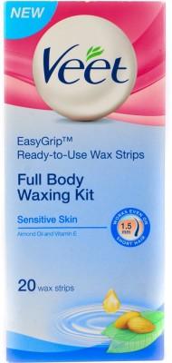 Veet Full Body Waxing Kit For Sensitive Skin Strips(20 Strips)