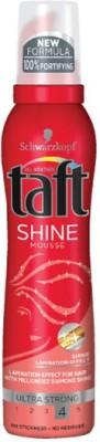 Schwarzkopf Taft Shine mousse Ultra Strong Hair Styler  available at flipkart for Rs.399