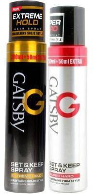 Gatsby Super hard and Extreme Hold Set Combo (pack of 2) Spray(500 ml)